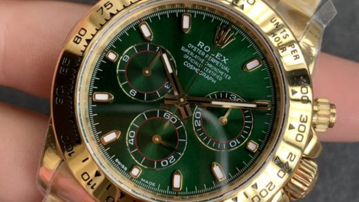 Replica Rolex Daytona Yellow Gold Green Dial